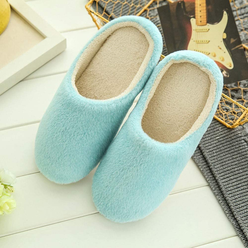 callm Women Warm Home Plush Soft Slippers Indoors Anti-slip Winter Floor Bedroom Shoes
