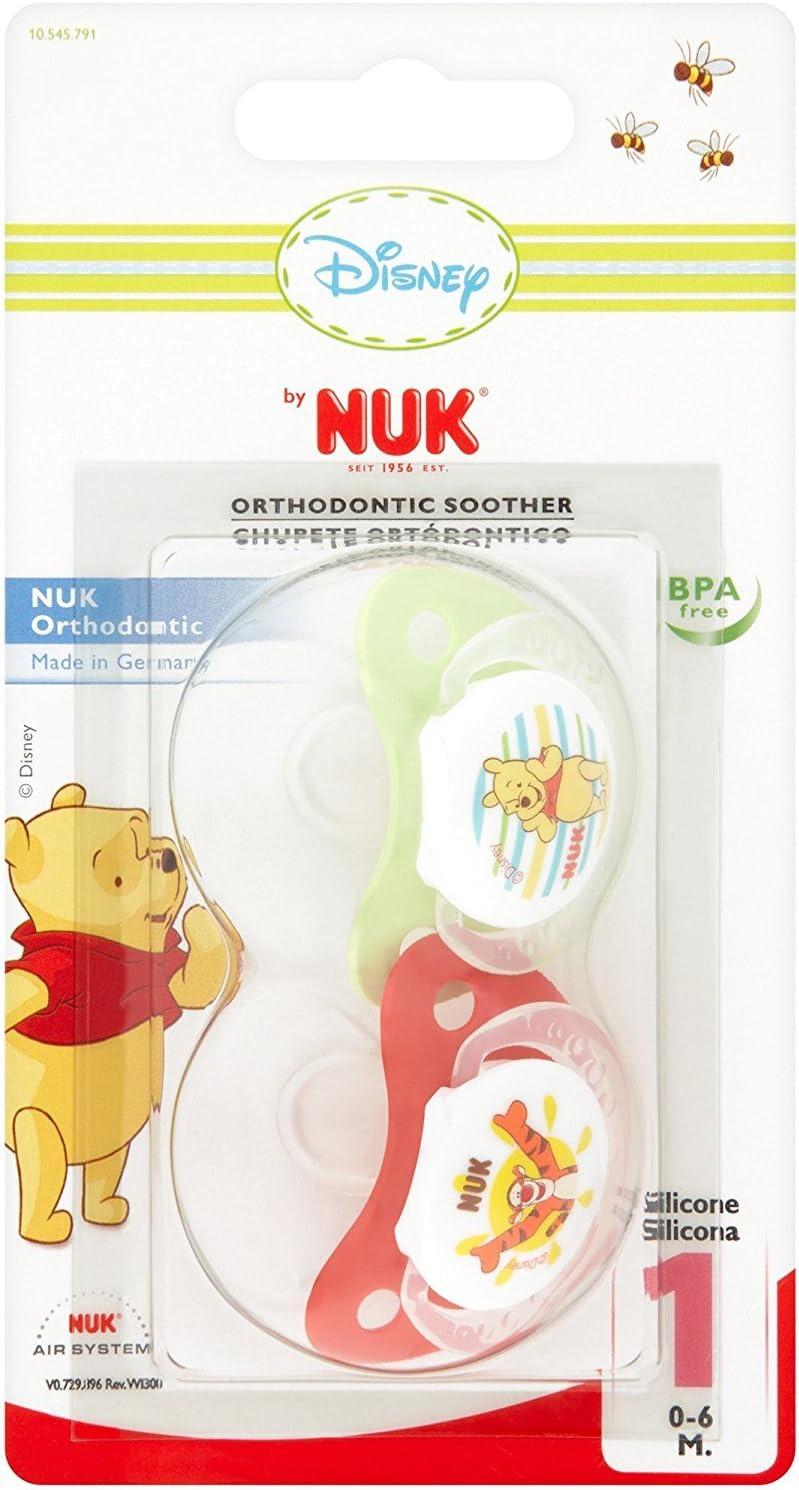 NUK - Chupete Winnie The Pooh Fisiológico Silicona 2 uds 0m+: Amazon.es: Bebé