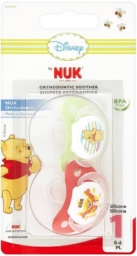 Nuk - Chupete Winnie The Pooh Fisiológico Silicona Nuk 2 uds ...