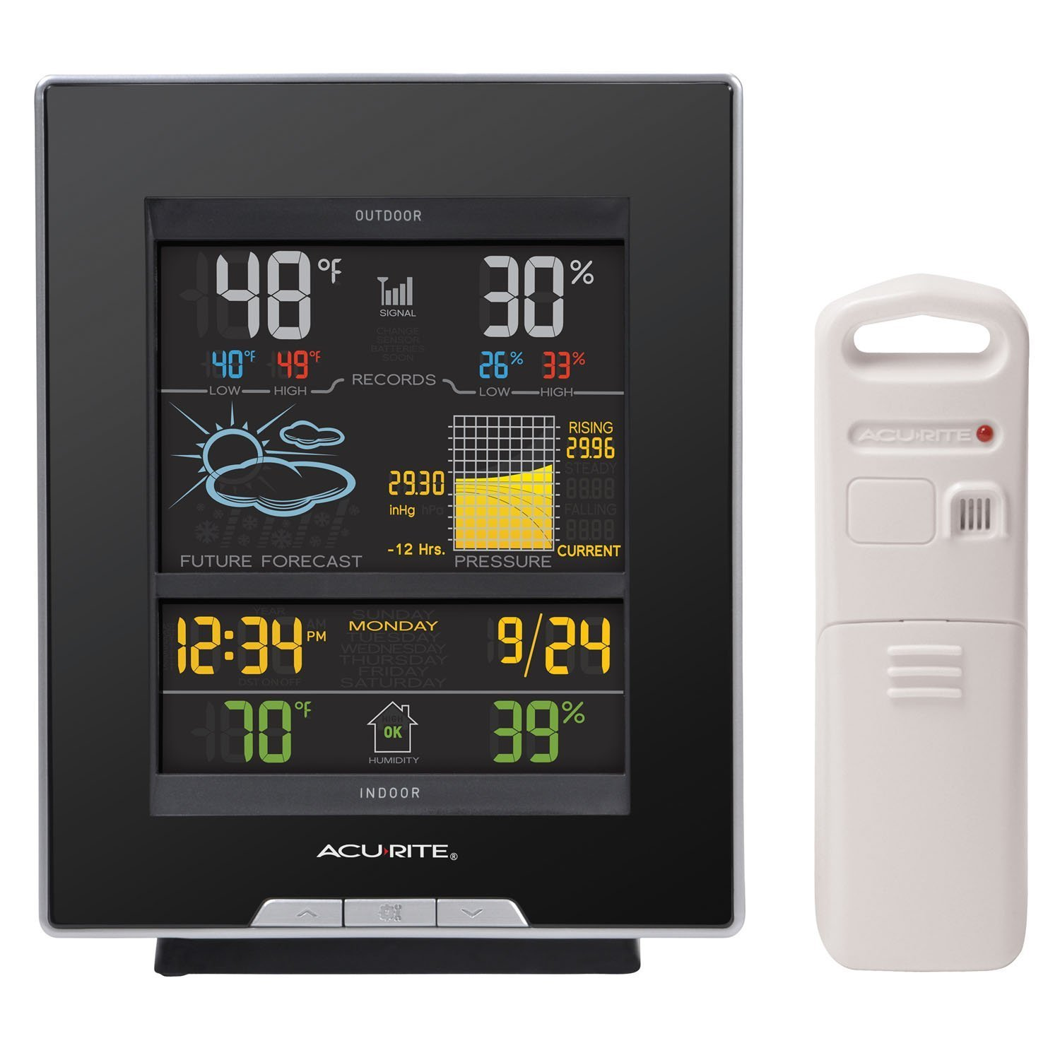 AcuRite 02008A1 Color Weather Station with Forecast, Temperature, Humidity, Barometric Pressure, Intelli-Time Clock [並行輸入品] B016BYW8RG