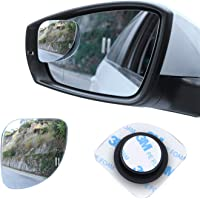 LivTee Blind Spot Mirror,Fan Shaped 2.5'' HD Glass Frameless Convex Rear View Mirror with wide angle Adjustable Stick…