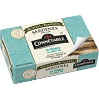 Connetable Skinless and Boneless Sardines in Water No Salt Added, 4.2 Ounce (Pack of 12)