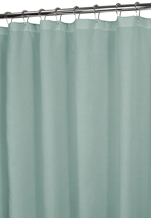 Wonderful Park B. Smith Waffle Weave Shower Curtain, Mineral