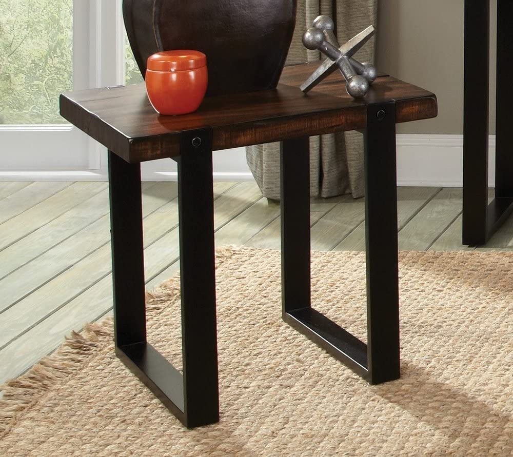 Coaster Home Furnishings Rectangular End Table Vintage Brown and Black