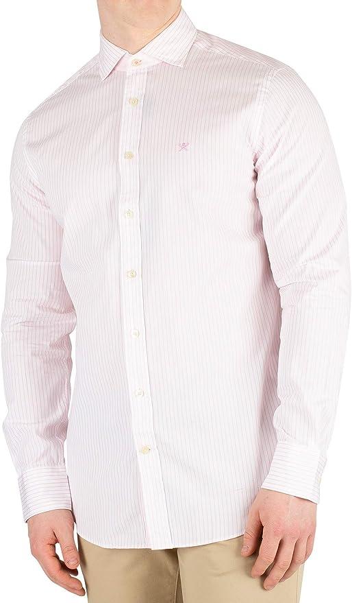 Hackett London de los Hombres Camisa Slim Fit Rayas Bengala ...