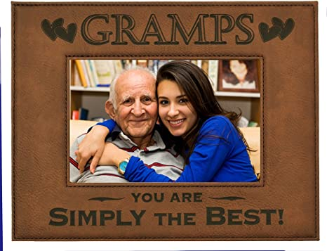 Amazon Com Gift Gramps Picture Frame Engraved Leatherette Picture Frame Gramps You Are Simply The Best Holds 4 X 6 Photo Great Grandparents Day Gift Gramps Birthday Gift Gramps Christmas Gift