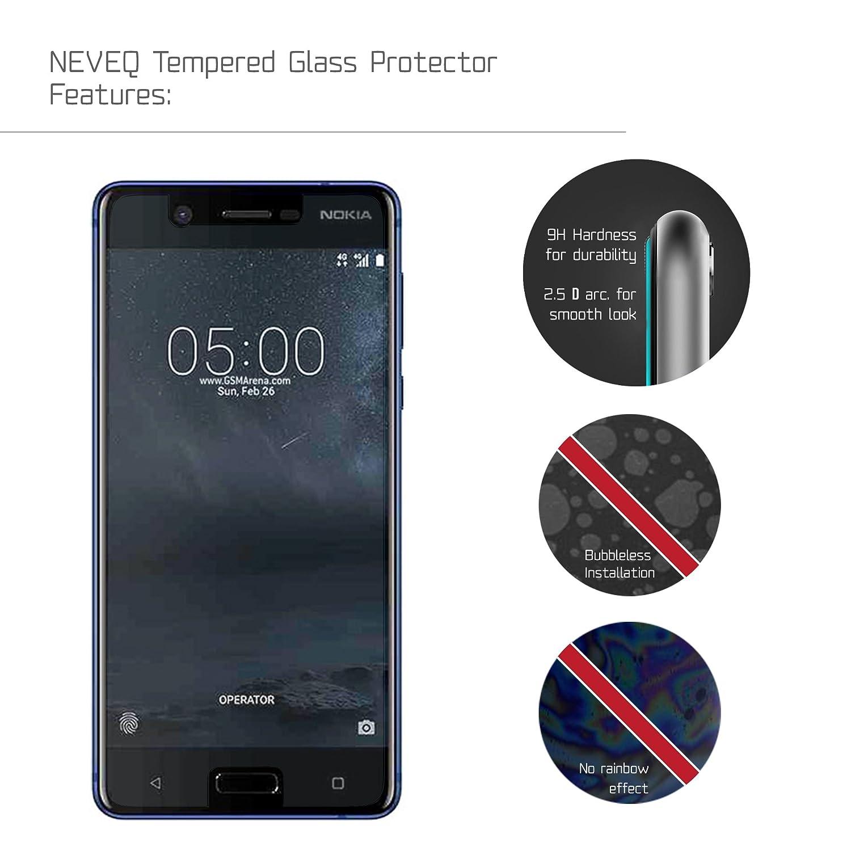 NEVEQ Cristal Templado Protector de Pantalla para Nokia 5 Vidrio ...