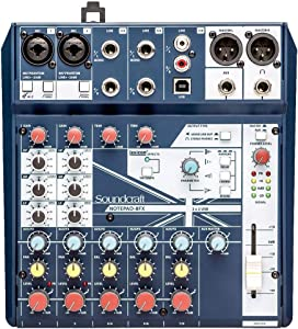 Soundcraft Notepad-8FX Small-Format Analog Mixing Console with USB I/O and Lexicon Effects - 8 Chan