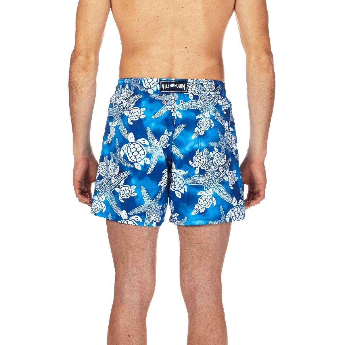 e32b2f268e Vilebrequin Men's Moorea Starlets & Turtles Swim Trunk | Amazon.com