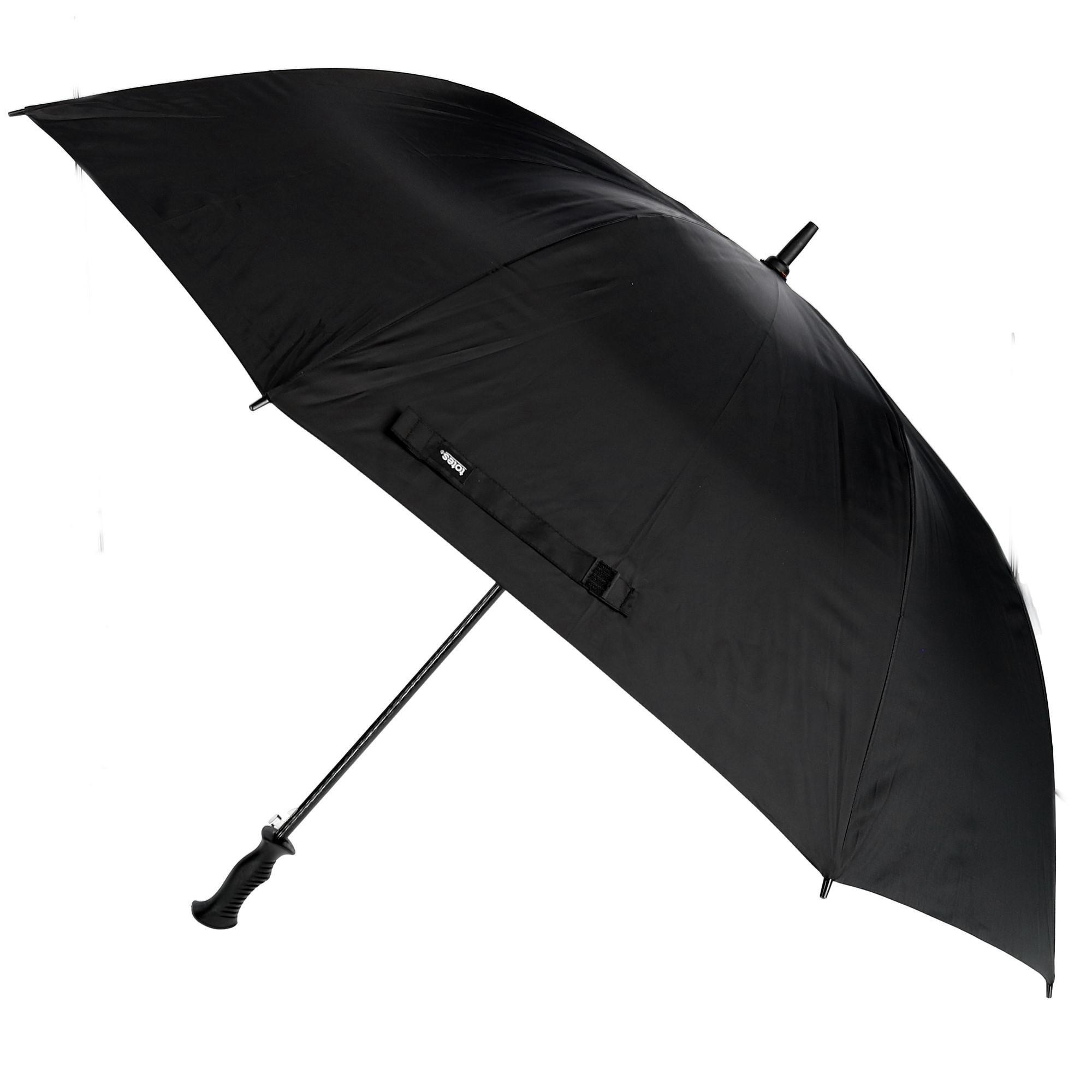Totes Auto Open Golf Stick Umbrella with Sun Protection, Black