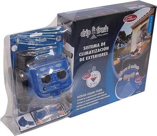 Drip&Fresh C5121 C5121-Kit Completo de nebulización para terrazas y Patios. Incluye Programador analógico por Segundos y 8 nebulizadores, Azul: Amazon.es: Jardín
