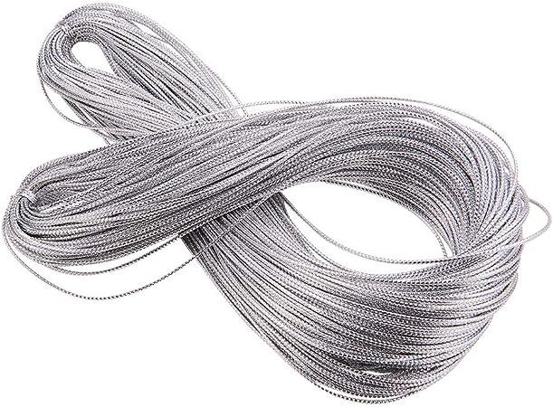 argento spessore 1 mm 100 m Cordoncino elastico