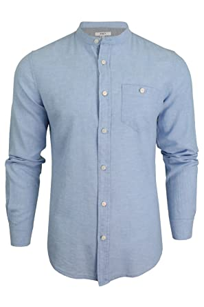 aff0ea691302 Xact Mens Long Sleeved Linen Grandad Shirt  Amazon.co.uk  Clothing