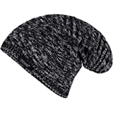 Noise NOICAPWNTR021 Textured Slouchy Polyester Beanie, Free Size (Black)