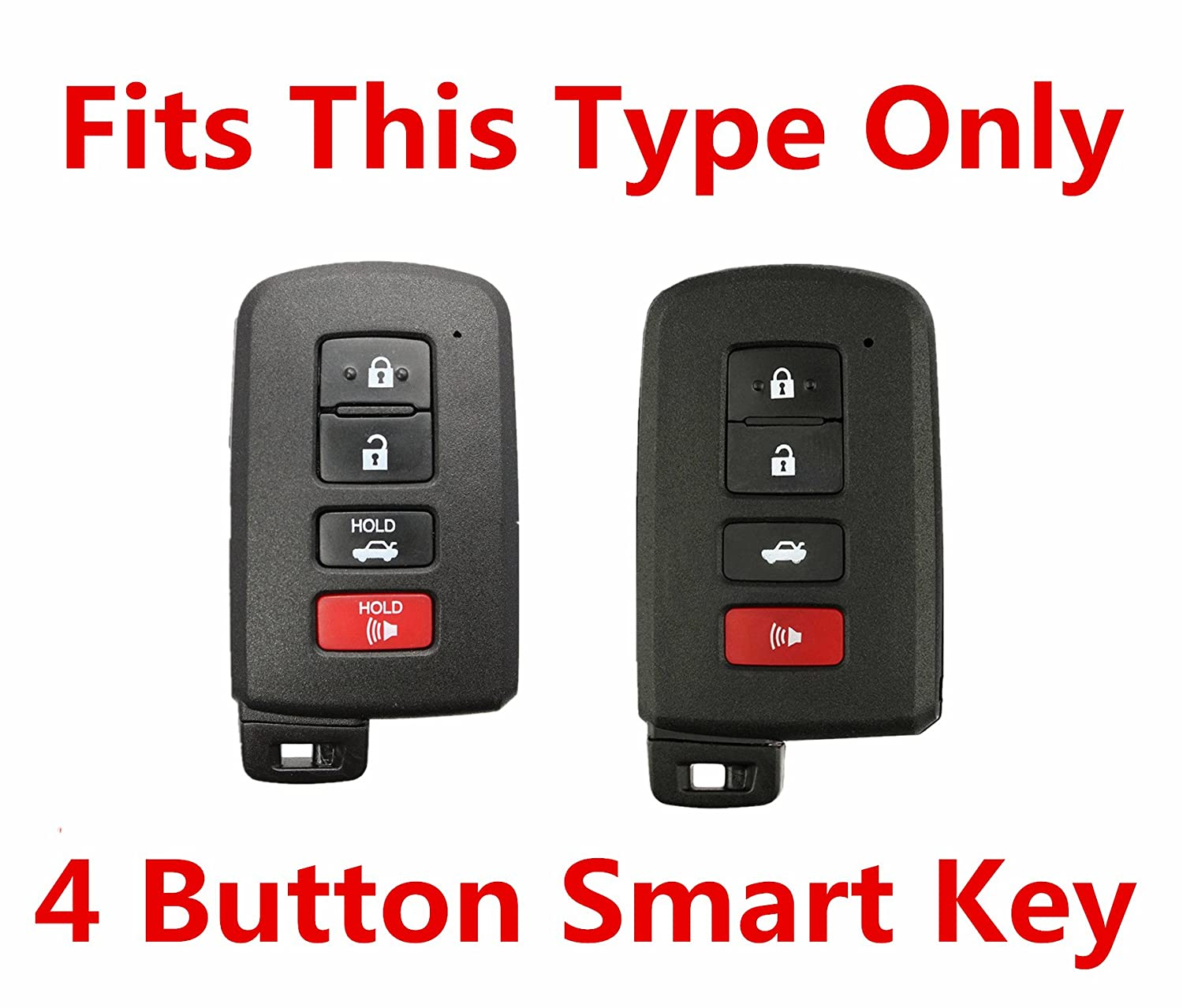 RPKEY Leather Keyless Entry Remote Control Key Fob Cover Case protector For 2014 2015 2016 2017 Toyota Avalon Camry Corolla RAV4 Highlander HYQ14FBA 89904-06140 1551A-14FBA ASD