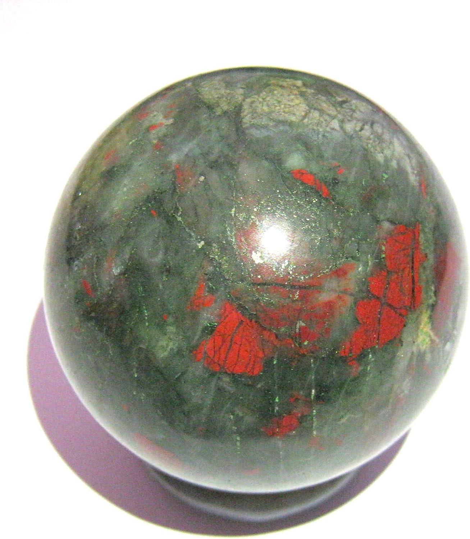 149 gramos de piedra sanguínea 46 mm Esfera Crystal curación FENG ...