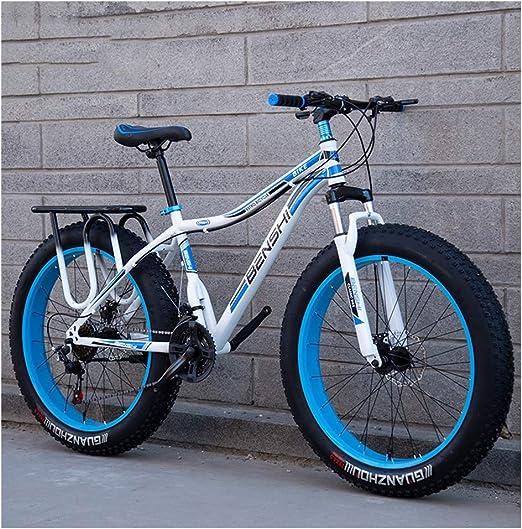 NENGGE Adulto Bicicleta Montaña, Doble Freno Disco Bicicleta BTT ...