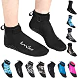 Water Socks Neoprene Socks Beach Booties Shoes 3mm Glued Blind Stitched Anti-Slip Wetsuit Boots Fin Swim Socks for Water…