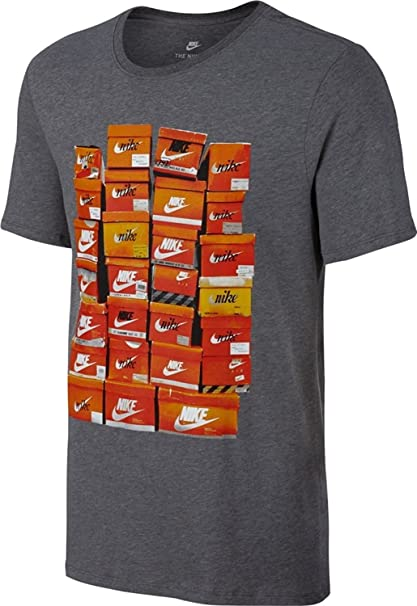 309f0ae6f928 Amazon.com  NIKE Boys Sportswear Vintage Shoe Box T-Shirt (Small ...