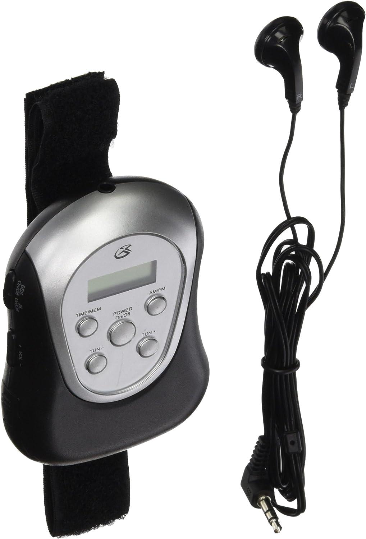 Insignia NS-R5111A Portable Digital AM//FM Armband Radio with Headphones