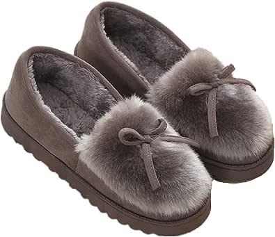 Zapatillas de Estar por casa para Mujer Slippers Comodos Pantuflas Zapatillas Invierno Peluche Algodón Mujer casa 2019 Zapatos Antideslizante