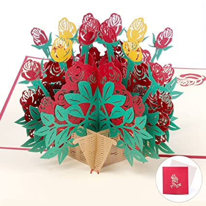 Amazon Flower Pop Up Cards Mom Birthday Gifts 3d Greeting