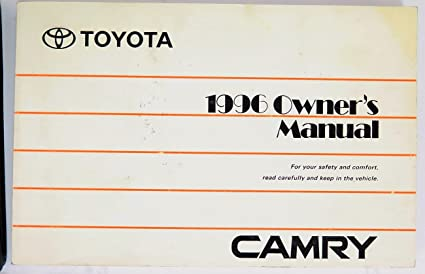 amazon com 1996 toyota camry owners manual toyota car electronics rh amazon com 1997 Toyota Avalon 1996 toyota avalon service manual