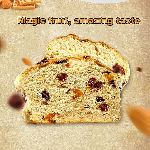 Máquina para hacer pan Programable Automático Trigo integral Desayuno Tostada hacer pasta1.5LB 3 Tamaños de pan 3 Colores de la corteza Temporizador de ...
