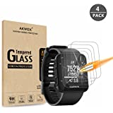 Akwox (Pack of 4) Tempered Glass Screen Protector for Garmin Forerunner 35 GPS Running Watch, [0.3mm 2.5D 9H] Premium Clear Screen Protective Film for Garmin Forerunner 35