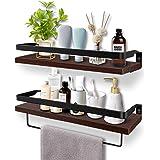 Soraken Floating Shelves, Wall Shelves Wall Mounted Bathroom Shelf, Rustic Wood Wall Storage Shelves for Kitchen…