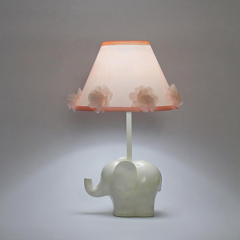 Amazon.com: Nursery lámpara con elefante blanco foco CFL de ...