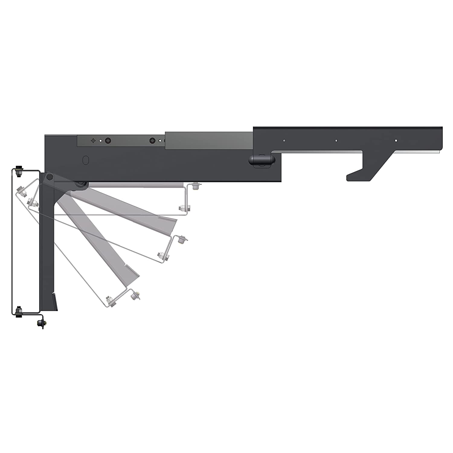 vision mounted slim mount ultra ceiling a ceilings tv bracket fixed products product
