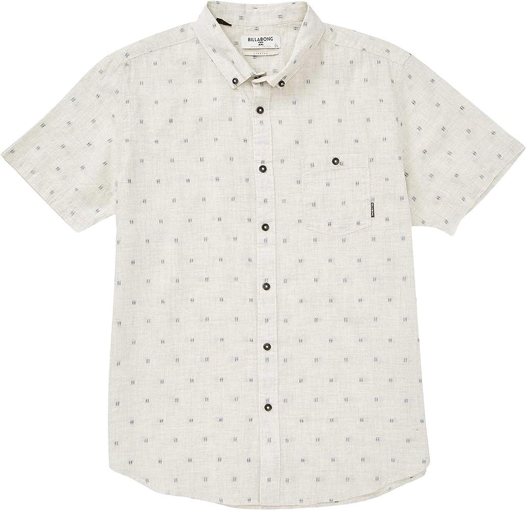BILLABONG Jaquard - Camiseta de Manga Corta para Hombre - Gris ...
