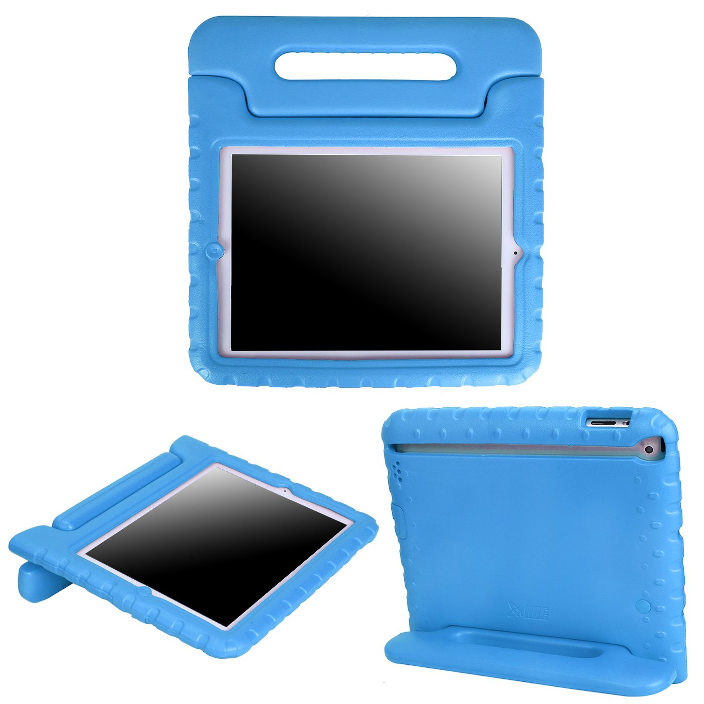 HDE iPad 2 3 4 Case for Kids - Shock Proof Bumper Heavy Duty Protective Cover Handle Stand for Apple iPad 2nd 3rd 4th Generation Tablet (Blue)