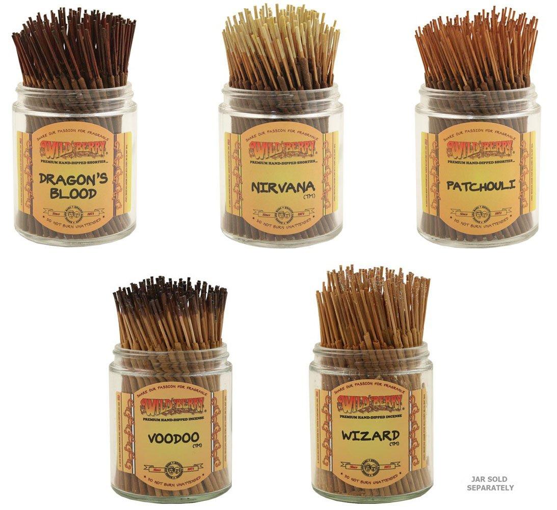 2019人気の Wildberry Short 's Incense Sticks B077NX369C – Set Sticks of 5 Best Selling Fragrances – Dragon 's Blood、Nirvana、パチュリ、Voodoo、ウィザード(各、100のパック合計500 Sticks ) B077NX369C, シロイシチョウ:83c598cd --- aemmontagens.com.br