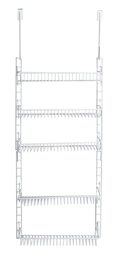 PRO MART DAZZ Over The Door Adjustable Pantry Organizer Rack, 5 Shelves,  Small