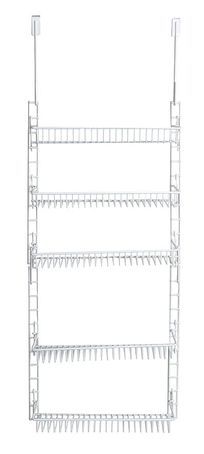 PRO MART DAZZ Over The Door Adjustable Pantry Organizer Rack, 5 Shelves,  Small