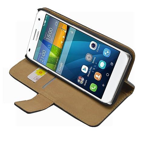 Membrane - Negro Cartera Funda Carcasa para Huawei Ascend G7 (G7-L01, G7-L03) - Wallet Case Cover + 2 Protectores de Pantalla