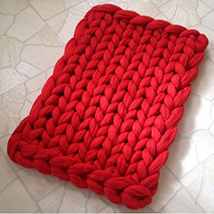 Amazon 120x180cm Super Chunky Knit Throw Blanket Chunky Wool