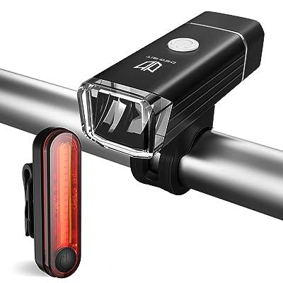 lumières de vélo, Degbit® Les lumières du Vélo, LED Sets D'éclairage Avant et Arrière pour Vélo, zoomables Mise au point réglable,Lampe de poche,Cycle Lampe torche p