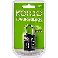 Korjo Luggage Lock, 3 Centimeters, Black