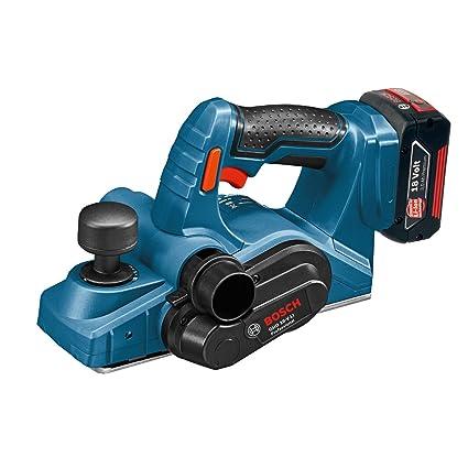 Bosch Professional 0.601.5A0.300 Cepillo (Sin batería y Sin cargador), 72 W, 18 V, Negro, Azul