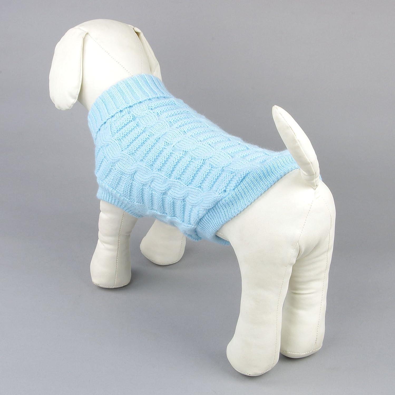 Kismaple Cute Pet Puppy Cat Dog Warm Jumper Sweater Knitwear Coat Apparel Autumn Winter Dog Clothes XXL Back Length:38-39, Red