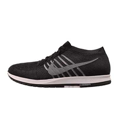Nike Mens Flyknit Streak Lightweight Running Shoe (Black/Dark Grey White 13 D(M) US/14.5 B(M) US)
