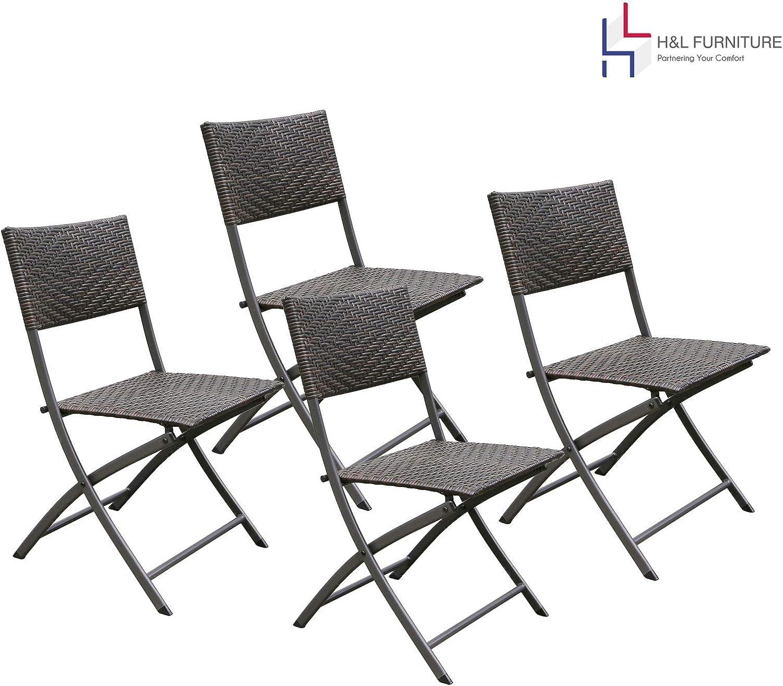 Casart 2 PCS Patio Folding Chairs Adjustable Reclining Indoor Outdoor Garden Pool Portable Furniture Chair Folding