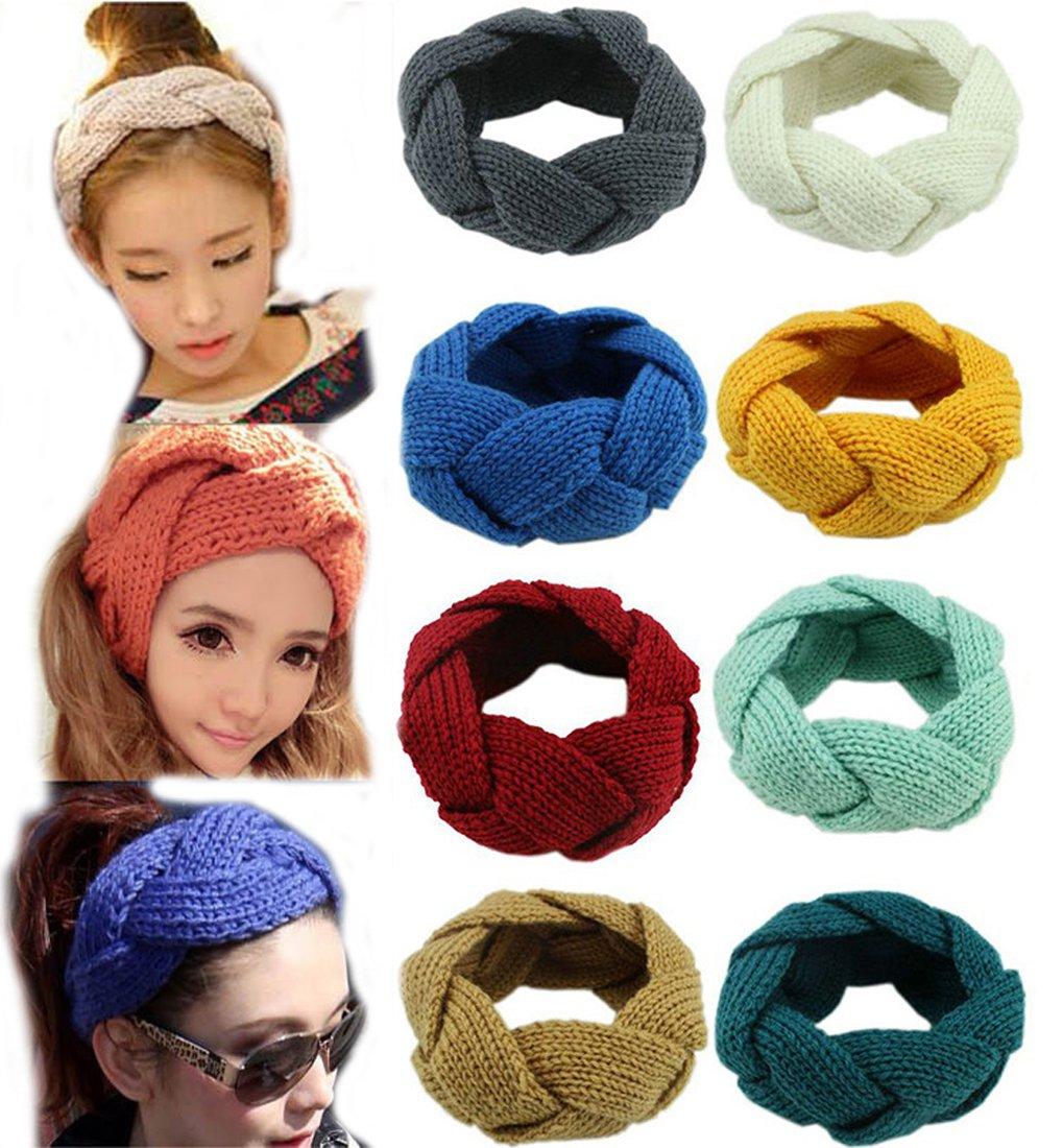 Amazon Flyusa Womens Winter Wool Knitted Twist Braid Pattern