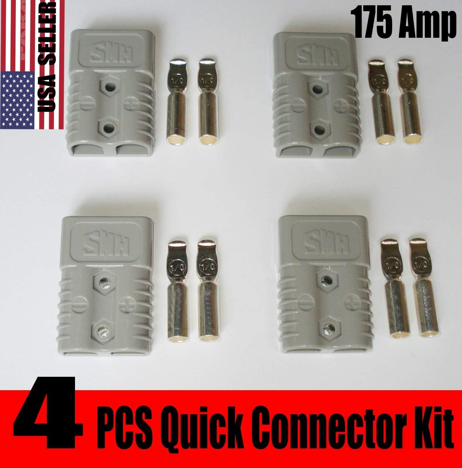 PAKA TOOLS 4PCS Heavy Duty 175 AMP Connector Battery TERMINALS Plug,Quick Connector by PAKA TOOLS