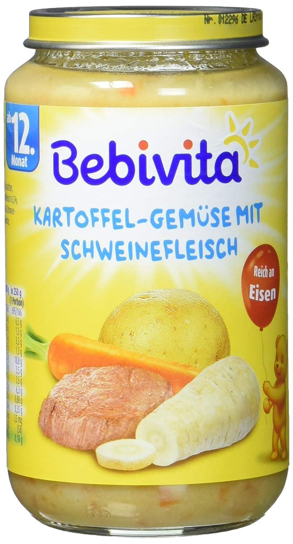Bebivita Kartoffel-Gemü se mit Schweinefleisch, 6er Pack (6 x 250 g) 1057 Menüs 250 g Komplettmahlzeit
