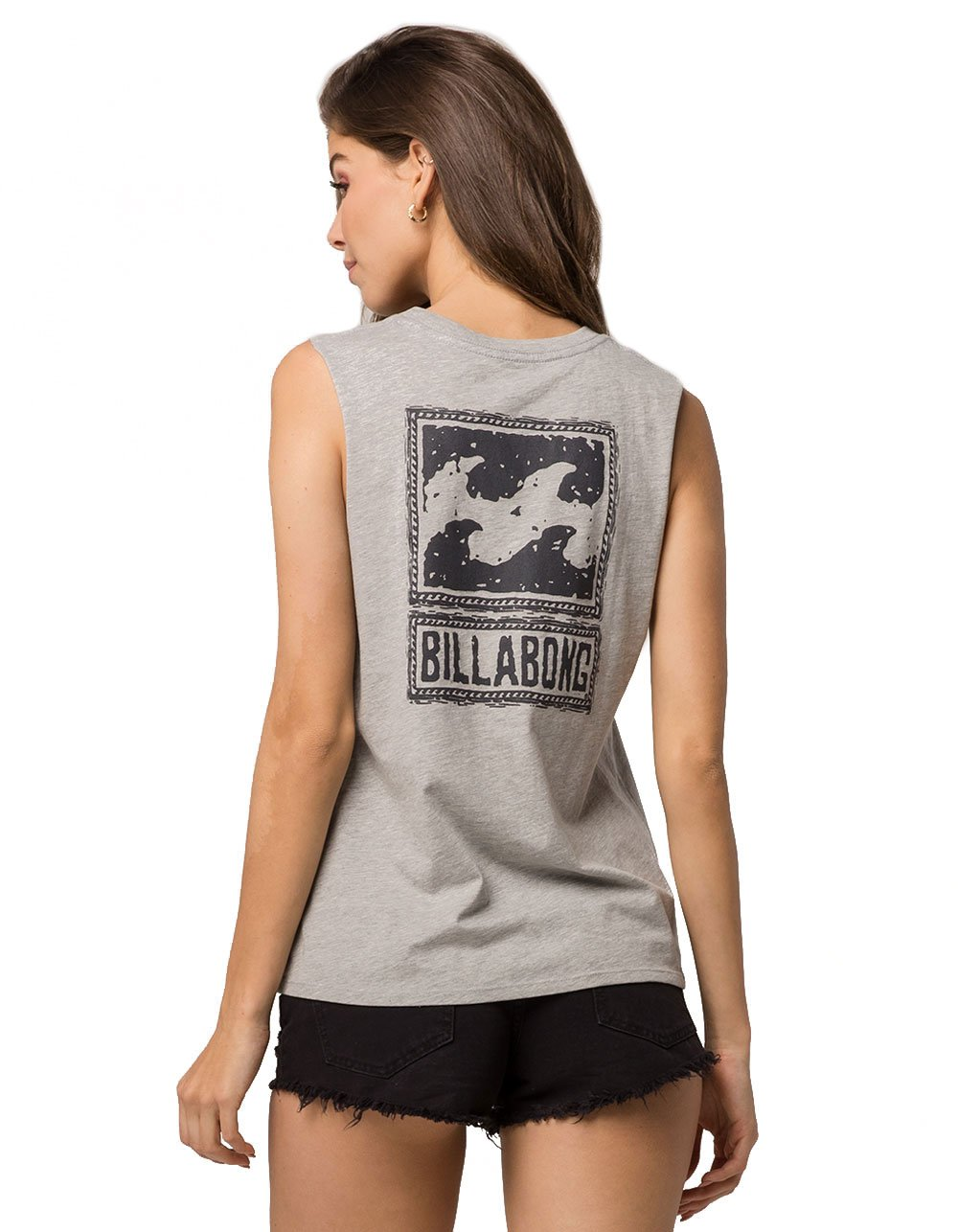 Billabong Same Love Muscle Tank, Grey, Small