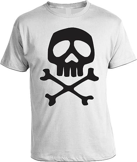 Camiseta Capitán Harlock. Calavera de bandera pirata – Space Opera – Camiseta para hombre, mujer y niño, Bianco: Amazon.es: Deportes y aire libre